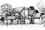 Southern House Plan Front of Home - 072D-0309 | House Plans and More