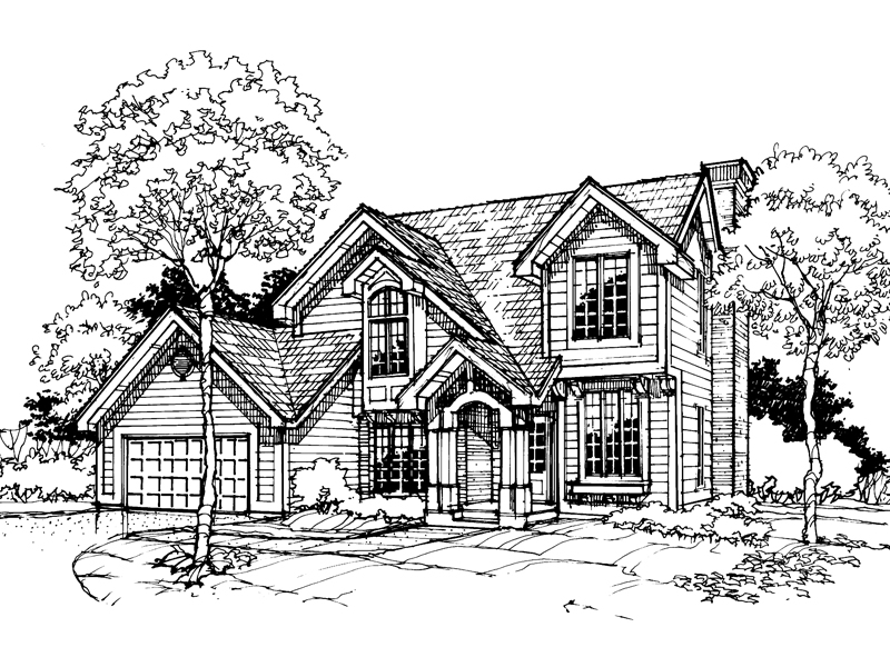 Craftsman House Plan Front of Home - 072D-0310 | House Plans and More