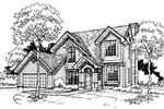 Traditional House Plan Front of Home - 072D-0310 | House Plans and More