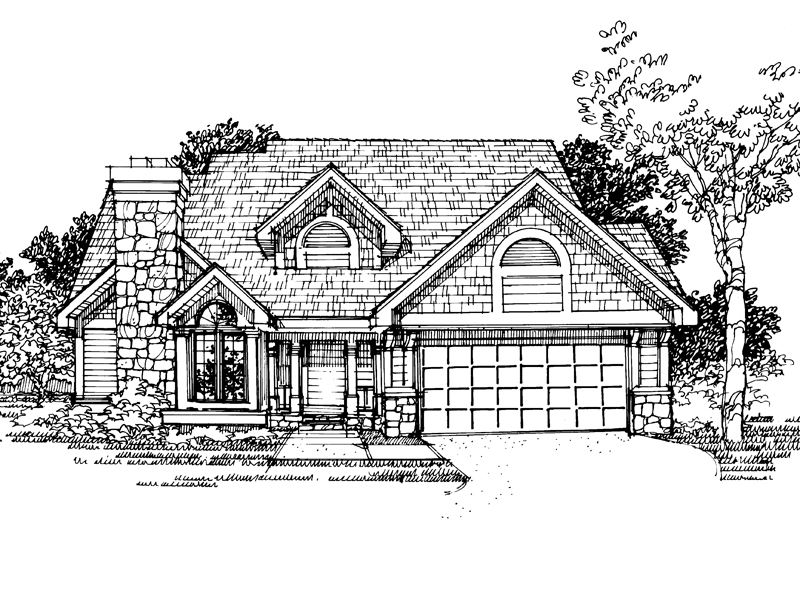 Traditional House Plan Front of Home - 072D-0311 | House Plans and More