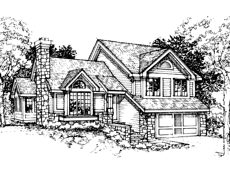 Modern House Plan Front of Home - 072D-0312 | House Plans and More