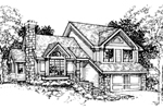 Contemporary House Plan Front of Home - 072D-0312 | House Plans and More