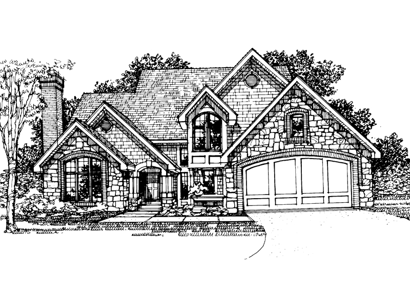 Traditional House Plan Front of Home - 072D-0313 | House Plans and More