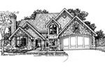 English Cottage Plan Front of Home - 072D-0313 | House Plans and More