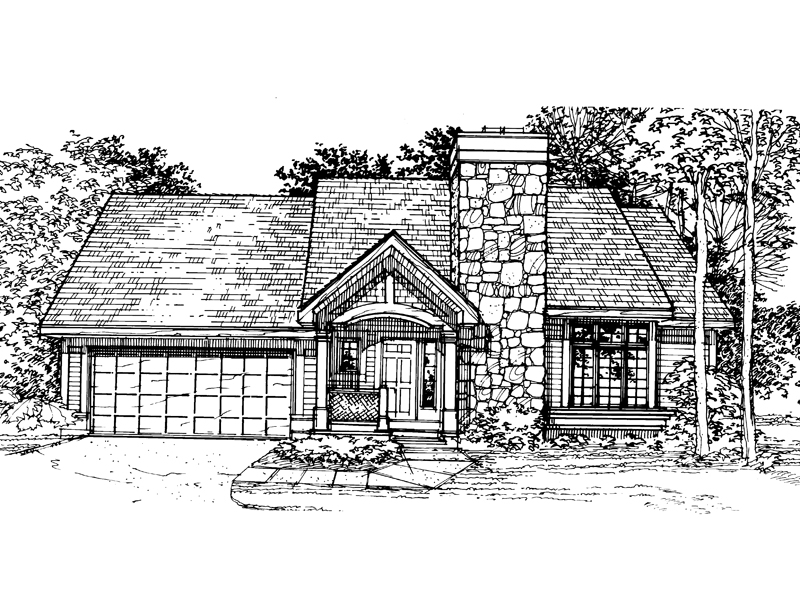 Craftsman House Plan Front of Home - 072D-0314 | House Plans and More