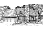 Contemporary House Plan Front of Home - 072D-0314 | House Plans and More