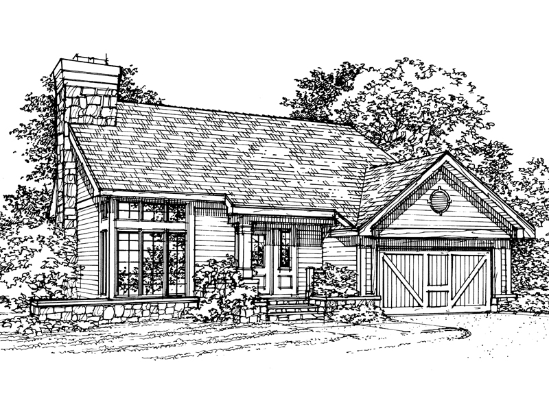 Traditional House Plan Front of Home - 072D-0316 | House Plans and More