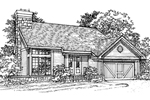 Contemporary House Plan Front of Home - 072D-0316 | House Plans and More