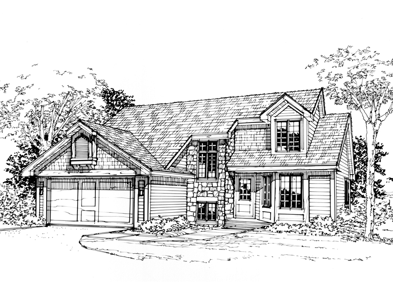 Shingle House Plan Front of Home - 072D-0319 | House Plans and More