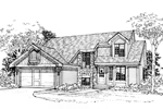 Contemporary House Plan Front of Home - 072D-0319 | House Plans and More