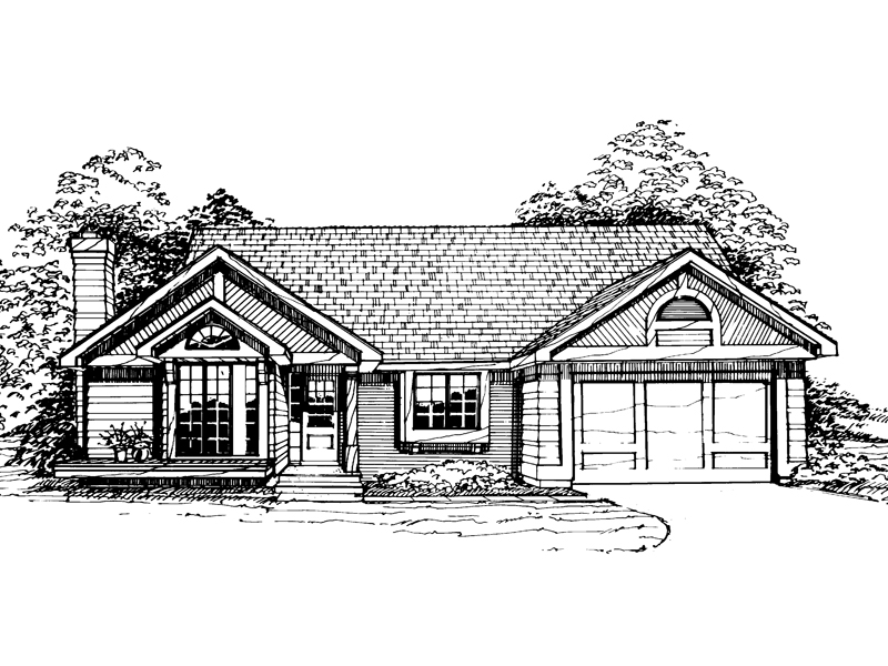 Contemporary House Plan Front of Home - 072D-0322 | House Plans and More