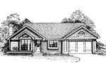 Ranch House Plan Front of Home - 072D-0322 | House Plans and More