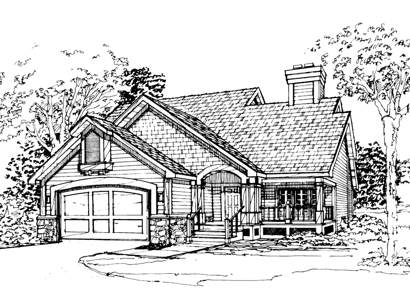 Craftsman House Plan Front of Home - 072D-0323 | House Plans and More