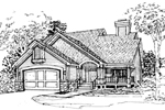 Traditional House Plan Front of Home - 072D-0323 | House Plans and More