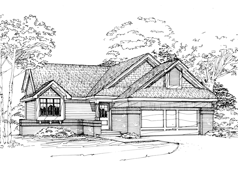 Traditional House Plan Front of Home - 072D-0324 | House Plans and More