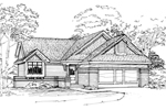 Ranch House Plan Front of Home - 072D-0324 | House Plans and More