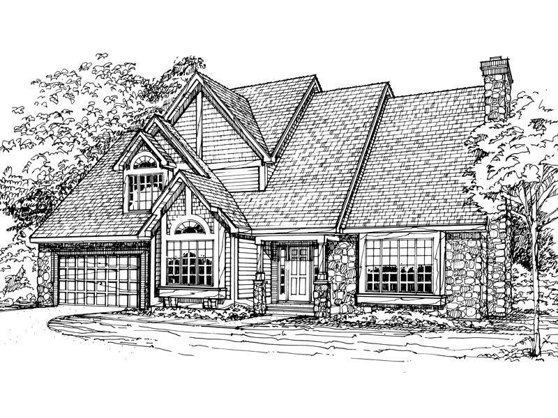 Modern House Plan Front of Home - 072D-0325 | House Plans and More