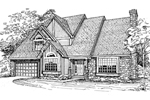 Contemporary House Plan Front of Home - 072D-0325 | House Plans and More