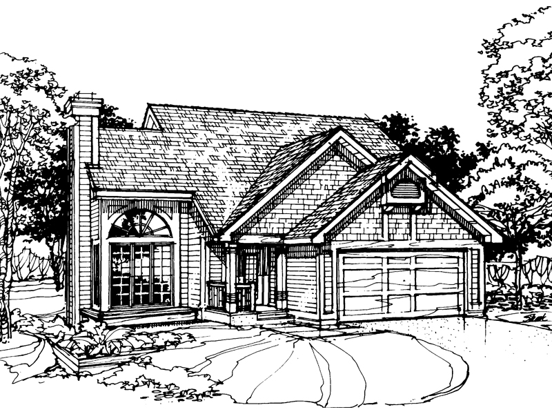 Contemporary House Plan Front of Home - 072D-0327 | House Plans and More
