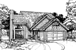 Traditional House Plan Front of Home - 072D-0327 | House Plans and More