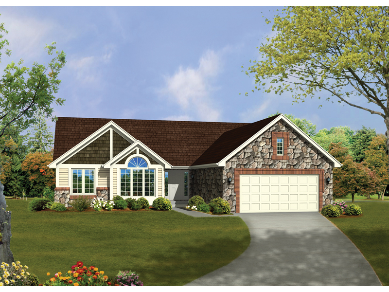 Jordan Creek Rustic Ranch Home Plan 072d 0329 House