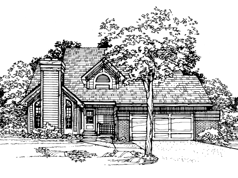 Bungalow House Plan Front of Home - 072D-0331 | House Plans and More