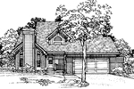 Traditional House Plan Front of Home - 072D-0331 | House Plans and More