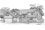Contemporary House Plan Front of Home - 072D-0333 | House Plans and More