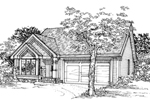Craftsman House Plan Front of Home - 072D-0334 | House Plans and More