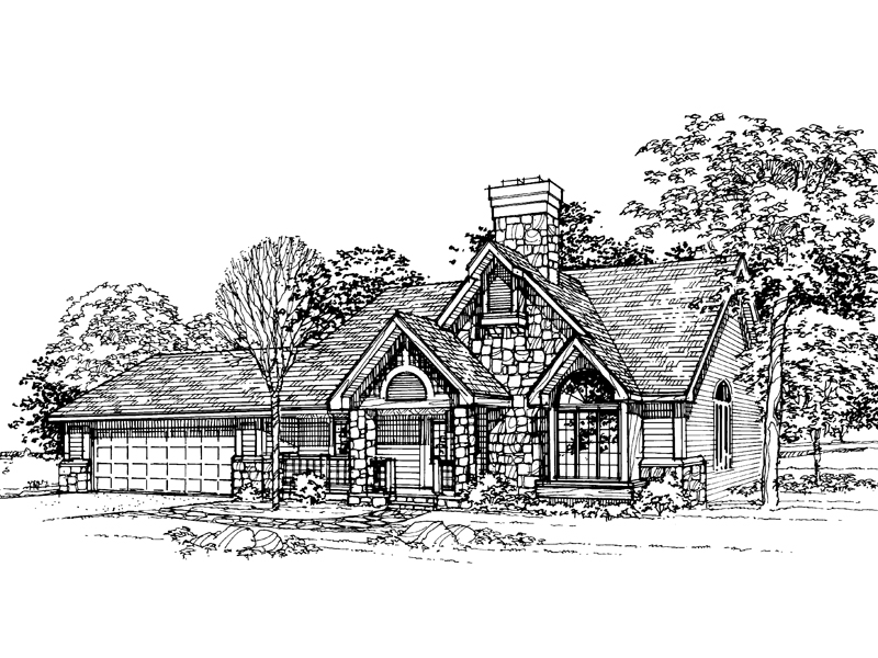 Traditional House Plan Front of Home - 072D-0335 | House Plans and More
