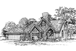 Arts and Crafts House Plan Front of Home - 072D-0335 | House Plans and More
