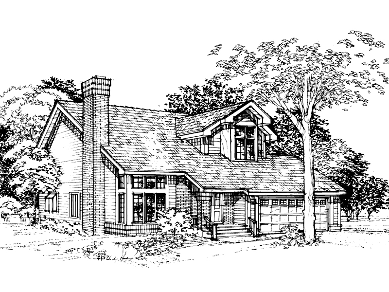 Traditional House Plan Front of Home - 072D-0336 | House Plans and More