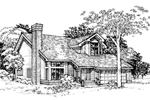 Contemporary House Plan Front of Home - 072D-0336 | House Plans and More