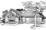 Modern House Plan Front of Home - 072D-0337 | House Plans and More