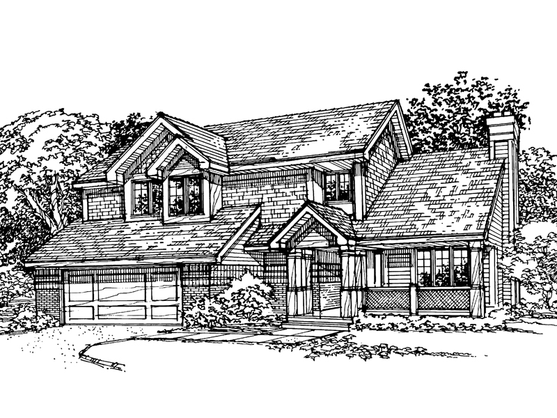 Bungalow House Plan Front of Home - 072D-0338 | House Plans and More