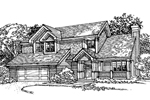 Farmhouse Plan Front of Home - 072D-0338 | House Plans and More