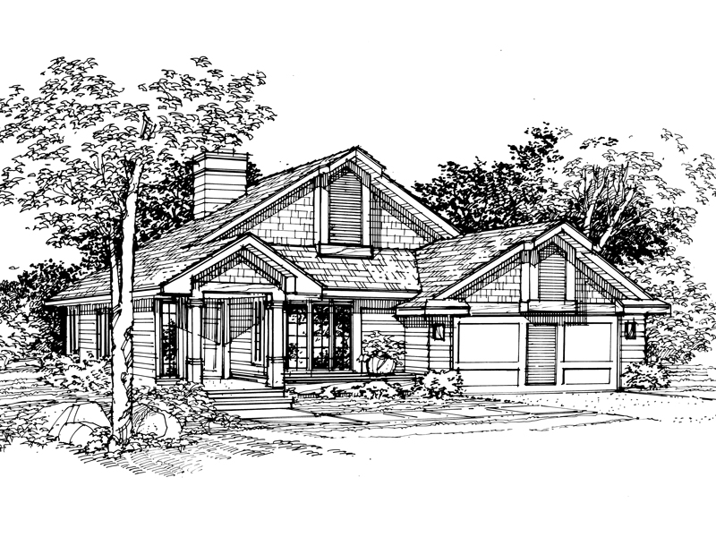 Traditional House Plan Front of Home - 072D-0339 | House Plans and More