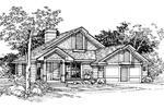 Ranch House Plan Front of Home - 072D-0339 | House Plans and More