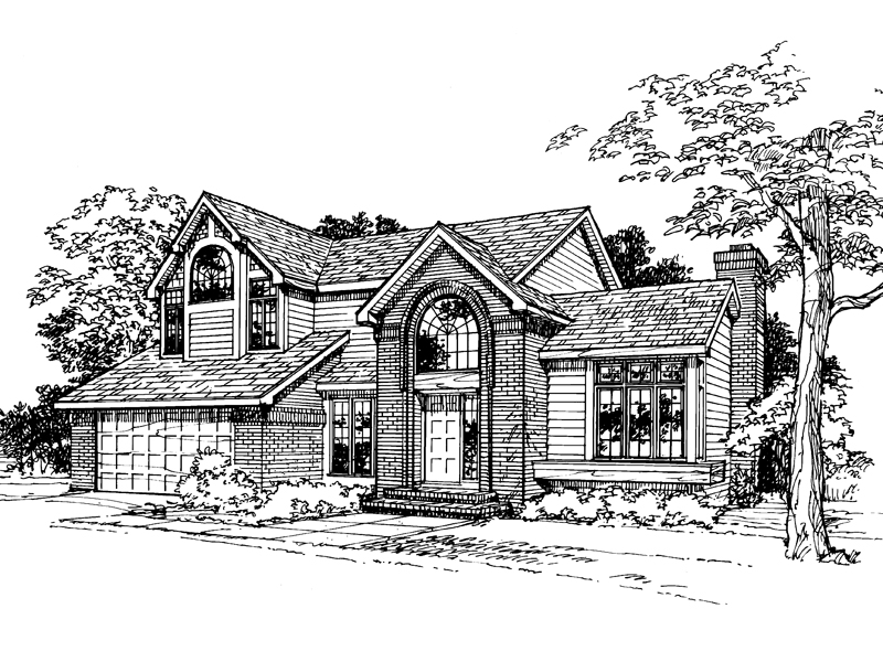 Southern House Plan Front of Home - 072D-0344 | House Plans and More