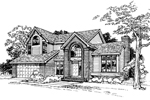 Contemporary House Plan Front of Home - 072D-0344 | House Plans and More
