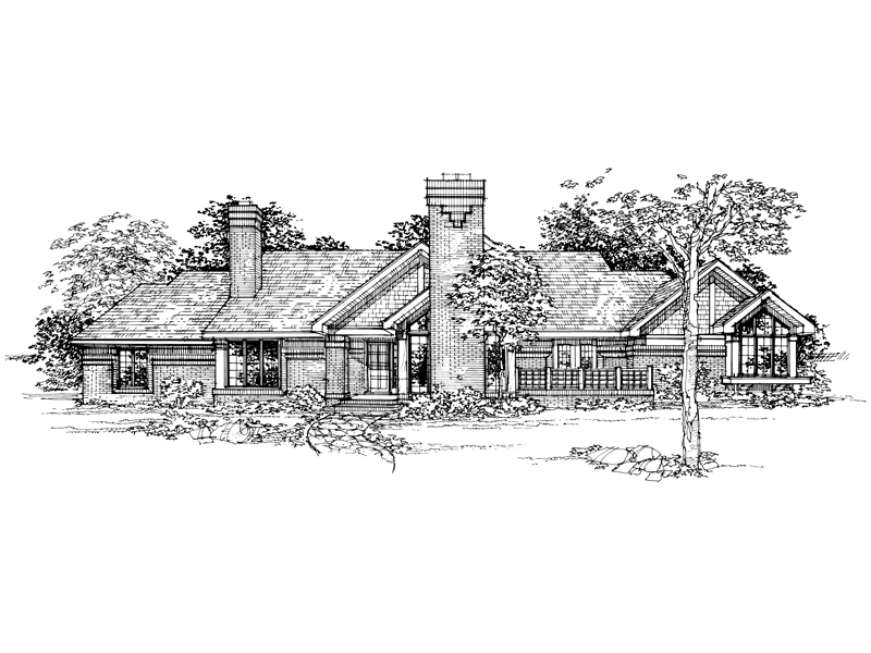 Southern House Plan Front of Home - 072D-0345 | House Plans and More
