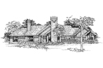Traditional House Plan Front of Home - 072D-0345 | House Plans and More