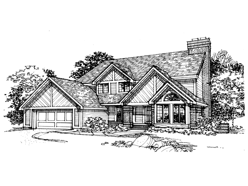 Contemporary House Plan Front of Home - 072D-0346 | House Plans and More