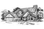 Traditional House Plan Front of Home - 072D-0346 | House Plans and More