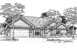 Southern House Plan Front of Home - 072D-0347 | House Plans and More