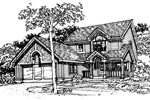 Farmhouse Plan Front of Home - 072D-0348 | House Plans and More