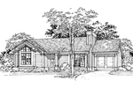 Modern House Plan Front of Home - 072D-0349 | House Plans and More