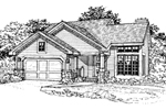 Modern House Plan Front of Home - 072D-0350 | House Plans and More