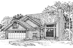 Modern House Plan Front of Home - 072D-0351 | House Plans and More