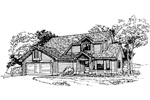 Contemporary House Plan Front of Home - 072D-0352 | House Plans and More
